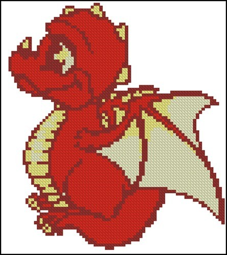 Маленький красный дракон