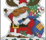 """Новогодняя миниатюра """"Лось - Дед Мороз"""""""