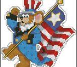 """Миниатюра """"Мышь с американским флагом"""""""