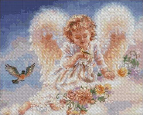 Ангел с птенцом