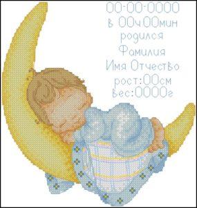 Мальчик - метрика для новорожденных