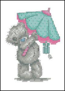 Тедди под зонтиком