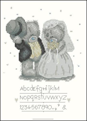 """Миниатюра """"Свадебная метрика с медвежонками Тедди"""""""
