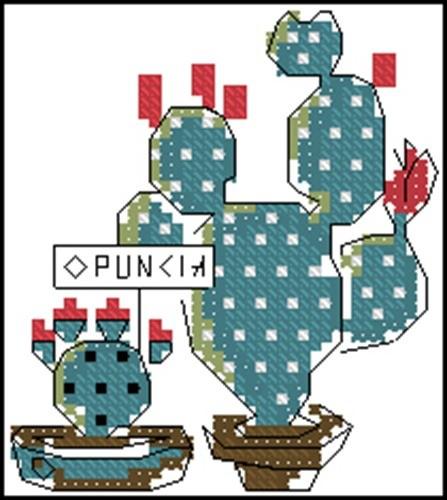 Cross stitch cacti