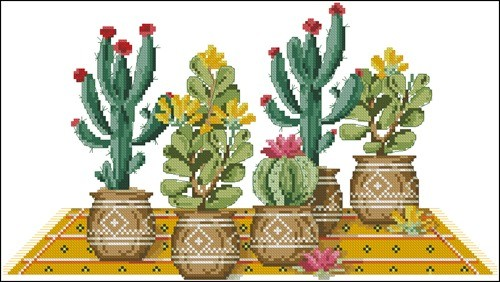 Cross stitch cacti 8