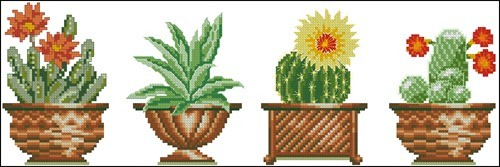 Cross stitch cacti 12