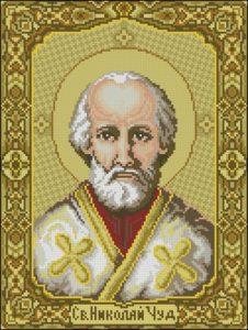 Икона Святой Николай (на золотом фоне)