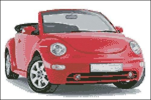 Красный жук кабриолет