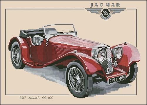 CJG117 1937 Jaguar SS100