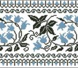 """Элемент национальной украинской сорочки """"Колокольчики голубые"""""""