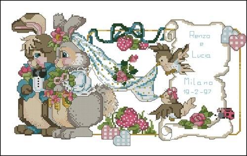 Свадебная метрика в кроликами