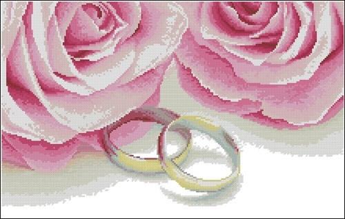 """Свадебная метрика """"Кольца и розы"""""""