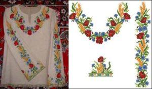 Вышиванка женская (маки, васильки, пшеница)