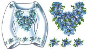 """Сорочка жіноча """"Блакитна мрія"""""""