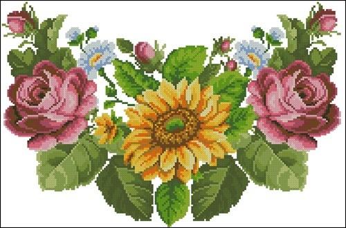 """Сорочка """"Троянди, соняшники"""""""