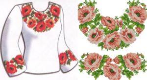 """Сорочка жiноча """"Рожеві піони"""""""