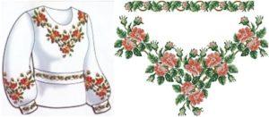 """Сорочка жіноча """"Цвіт персика"""""""
