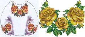 """Сорочка жіноча """"Золотисті троянди"""""""
