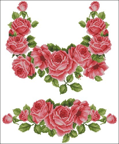 Сорочка с розами ЖС-016