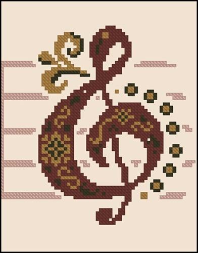 Скрипичный ключ (маленький)