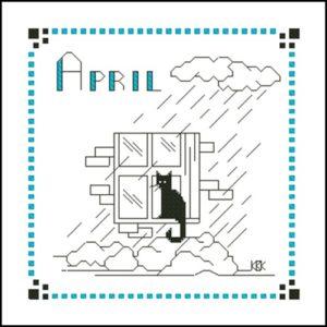 April – Черная кошка