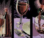 "Триптих ""Бокал с вином"""