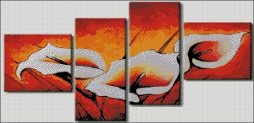 Схема триптиха с каллами