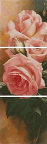 """Триптих """"Розы чайные"""""""