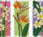"""Триптих """"Яркие цветочки"""""""