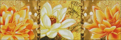 "Триптих ""Желтые цветы"""
