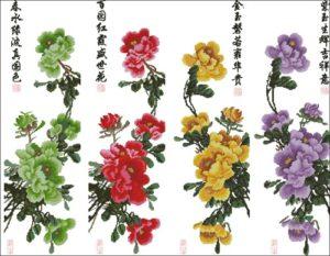 Панели с восточными цветами
