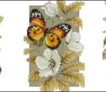 Бабочки и цветы (триптих)