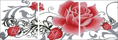Триптих Розы (код 66910)