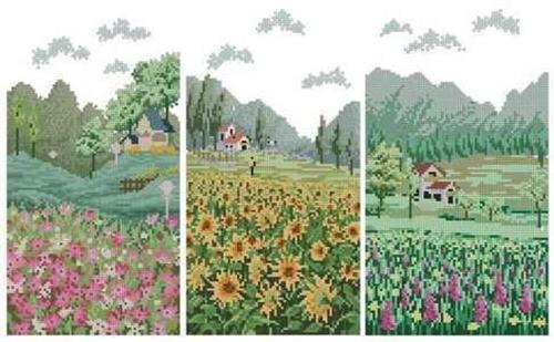 "Триптих ""Flower Field"""