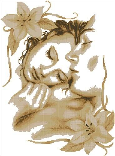 Влюбленная пара (коричневые тона)