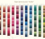 Карта цветов мулине Anchor – живая таблица всех оттенков