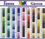 Мулине ГАММА карта цветов с названиями на русском языке