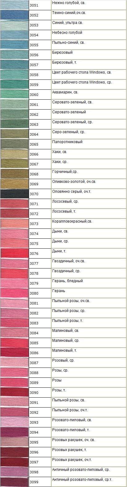 Мулине Гамма № 3051 — 3099