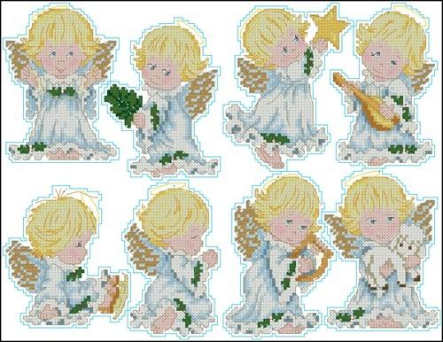 #07955 Angel Ornaments