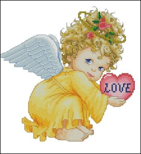 Ангелочек в желтом