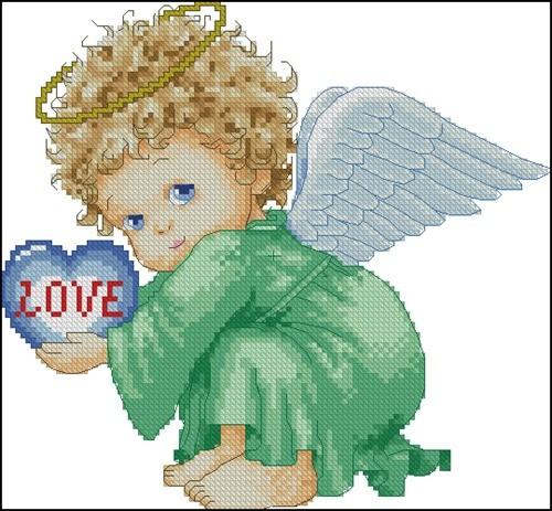 Ангелочек в зеленом