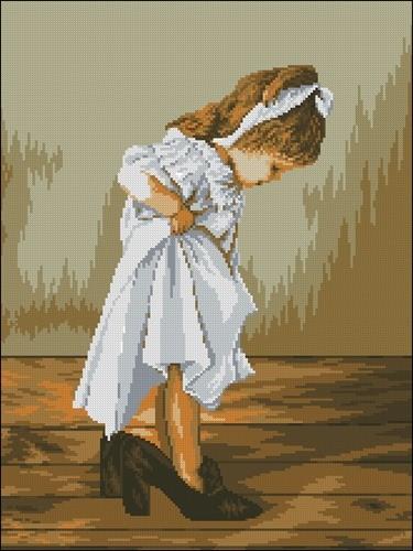Вышивка мамины туфли