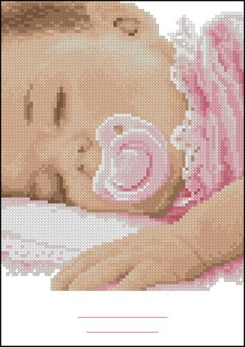 Спящий младенец (девочка)