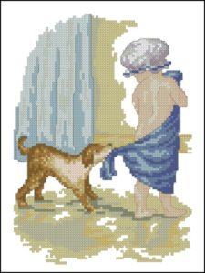 В полотенце