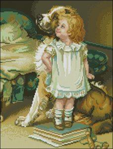 Nina con su Perro