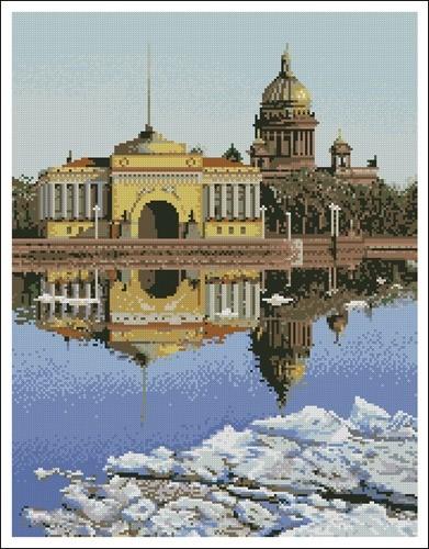 Санкт-Петербург вид на Исаакиевский собор