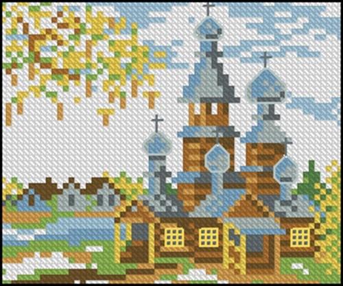 Церковь и деревушка