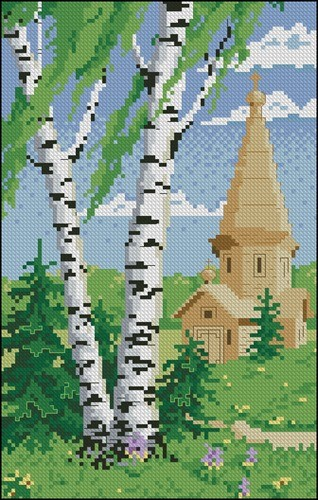 Birch and Old Church