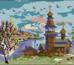 Журавли летят над храмом