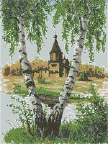 Березки и церковь